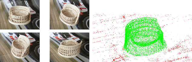 Figure 1 for Reconstructing Small 3D Objects in front of a Textured Background