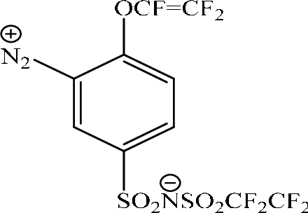 Diazonium 4 Trifluorovinyloxy Perfluorobutanesulfonyl