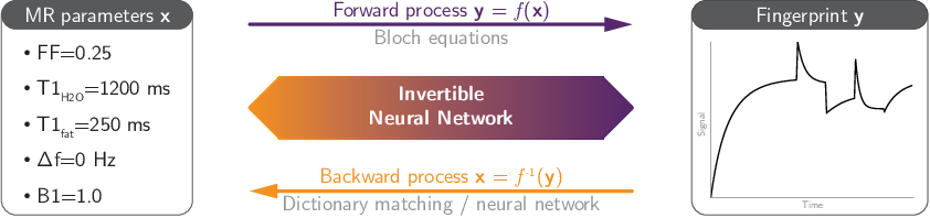Figure 1 for Learning Bloch Simulations for MR Fingerprinting by Invertible Neural Networks