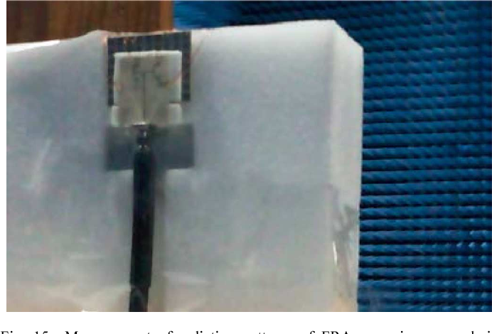 Fig. 15. Measurement of radiation patterns of FRA array in an anechoic chamber.