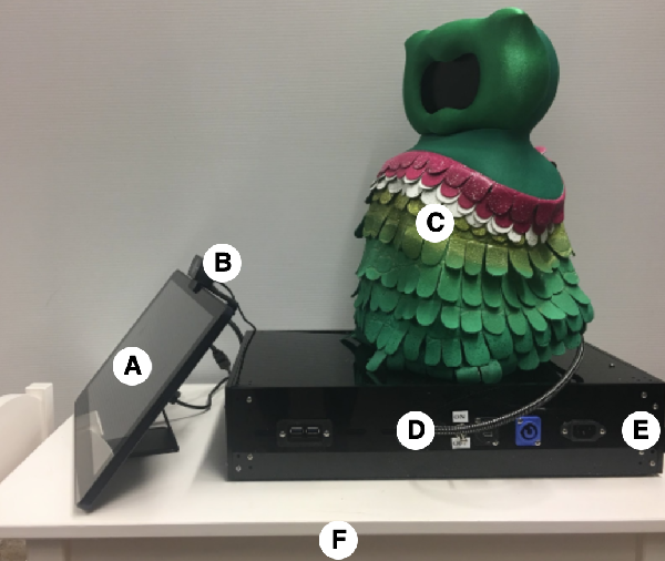 Figure 1 for Designing a Socially Assistive Robot for Long-Term In-Home Use for Children with Autism Spectrum Disorders