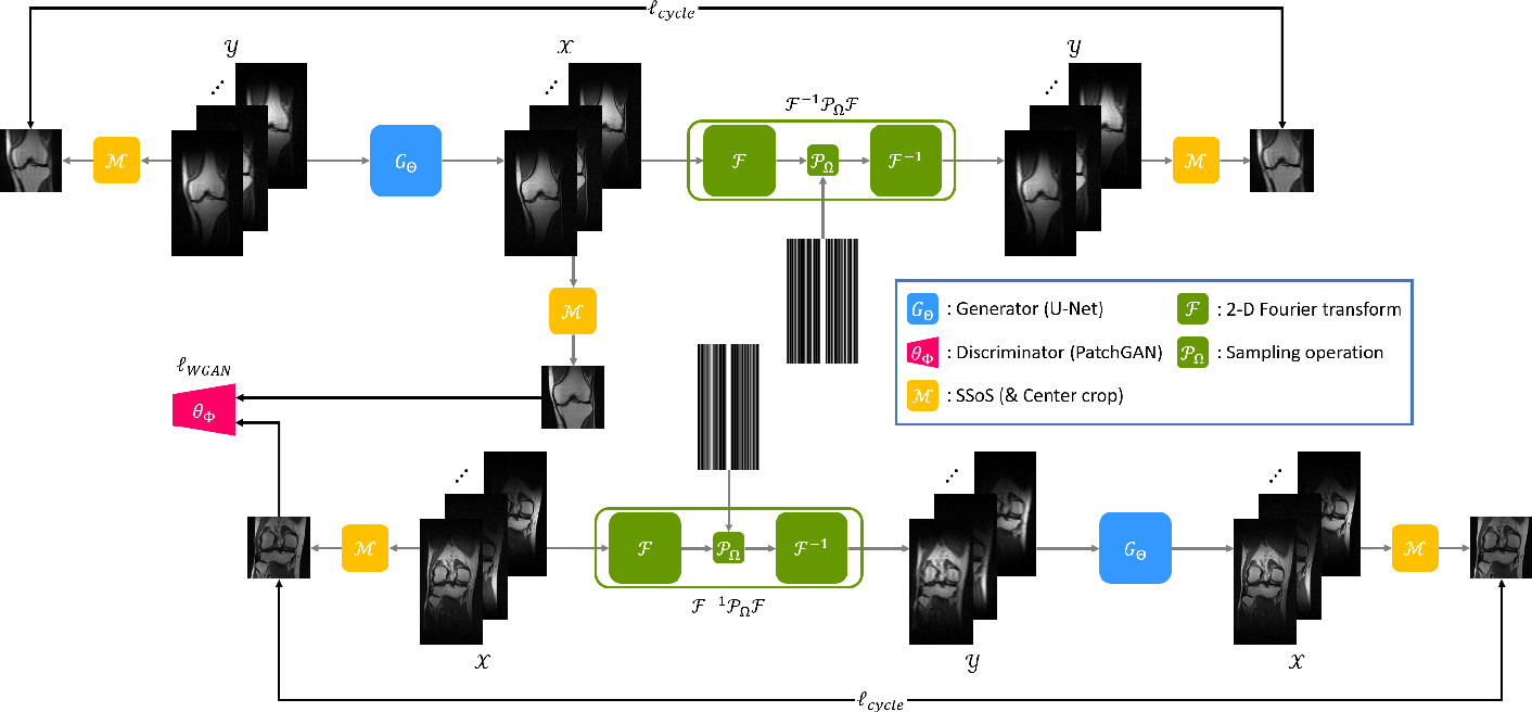 Figure 1 for Unpaired Deep Learning for Accelerated MRI using Optimal Transport Driven CycleGAN