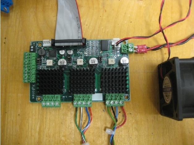 Fig. 7. Xylotex stepper motor driver board