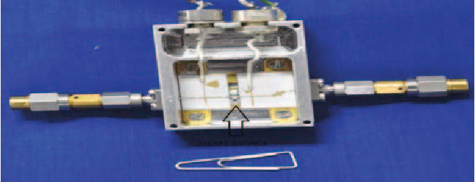 Fig. 9. Tripler hardware photograph. The hardware is of 25 mm×15 mm.