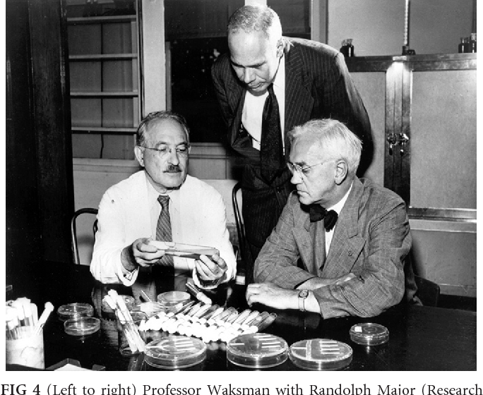 FIG 4 Left To Right Professor Waksman With Randolph Major Research Director