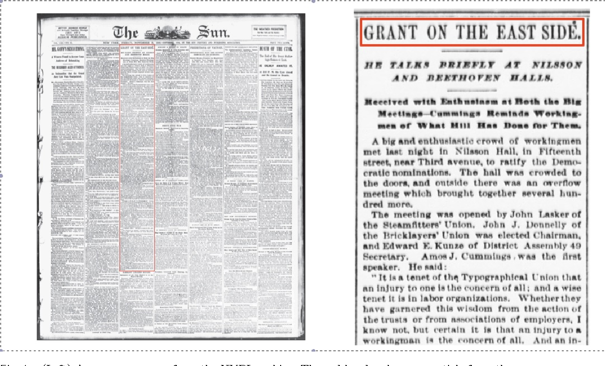 Figure 1 for Leveraging Subjective Human Annotation for Clustering Historic Newspaper Articles