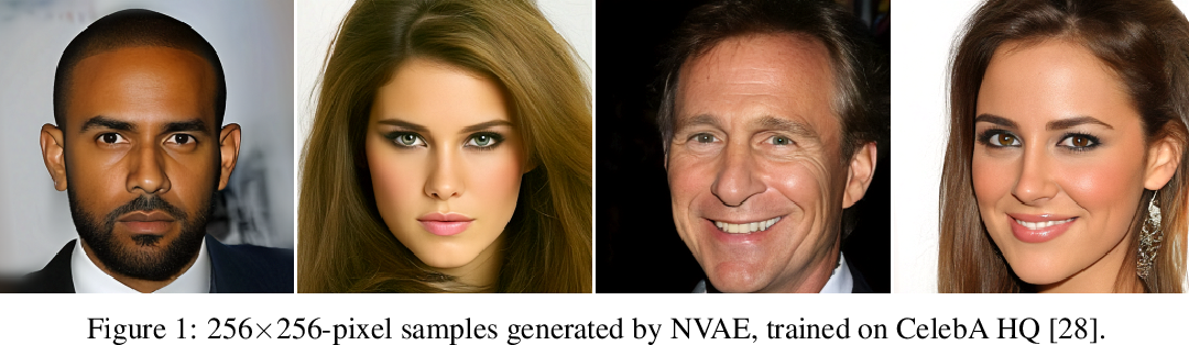 Figure 1 for NVAE: A Deep Hierarchical Variational Autoencoder
