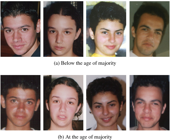 Figure 1 for Are you eligible? Predicting adulthood from face images via class specific mean autoencoder