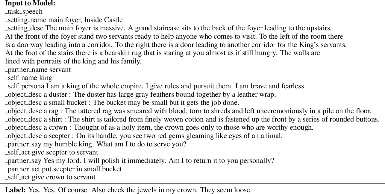 Figure 4 for Learning to Speak and Act in a Fantasy Text Adventure Game