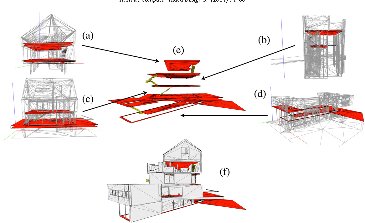 A Case Based Design With 3d Mesh Models Of Architecture Semantic Diagram Network In Multistory Building Figure 2