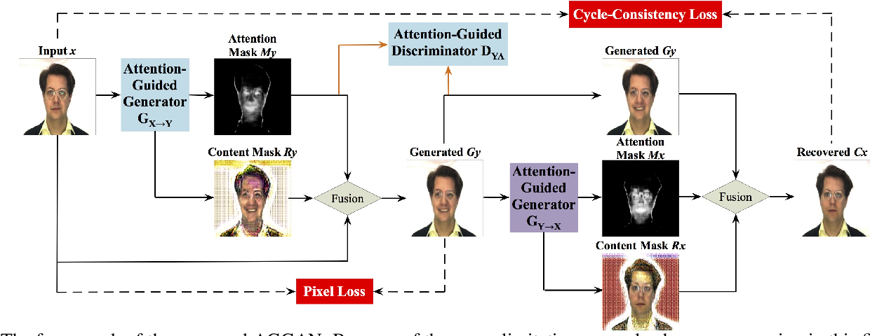 Figure 2 for Attention-Guided Generative Adversarial Networks for Unsupervised Image-to-Image Translation
