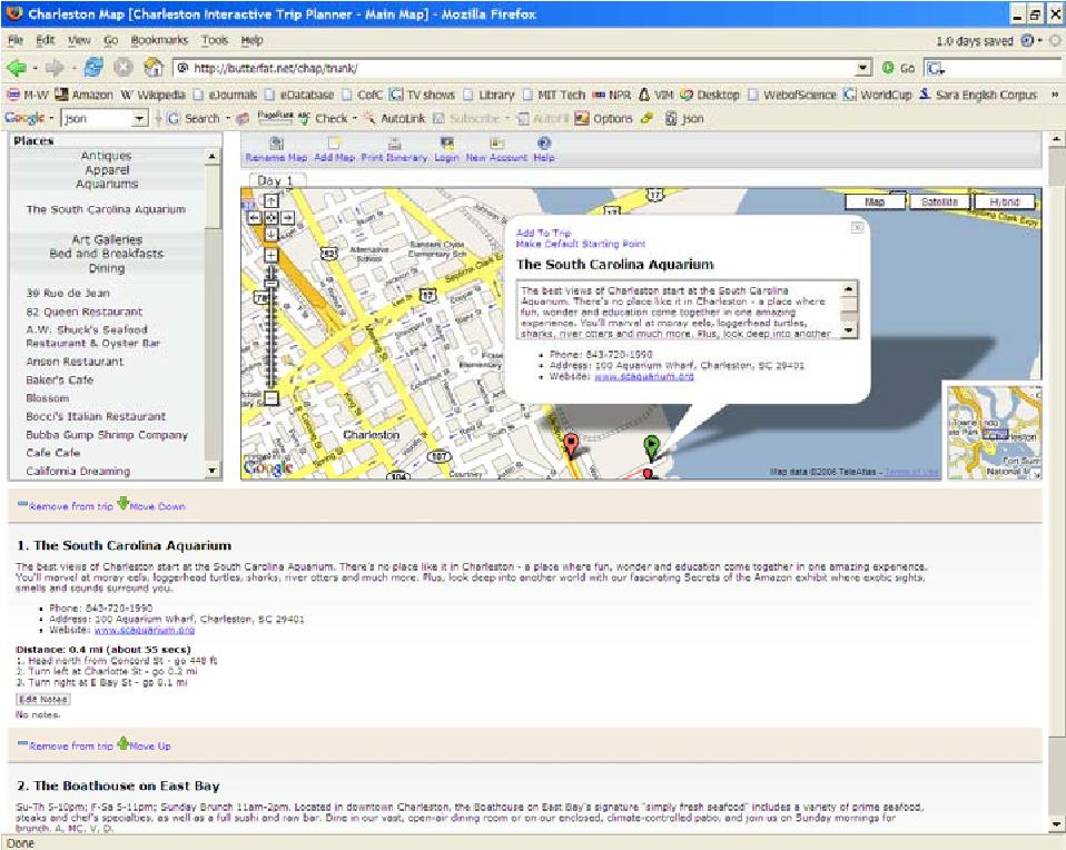 Developing Web-Based Tourist Information Tools Using Google Map