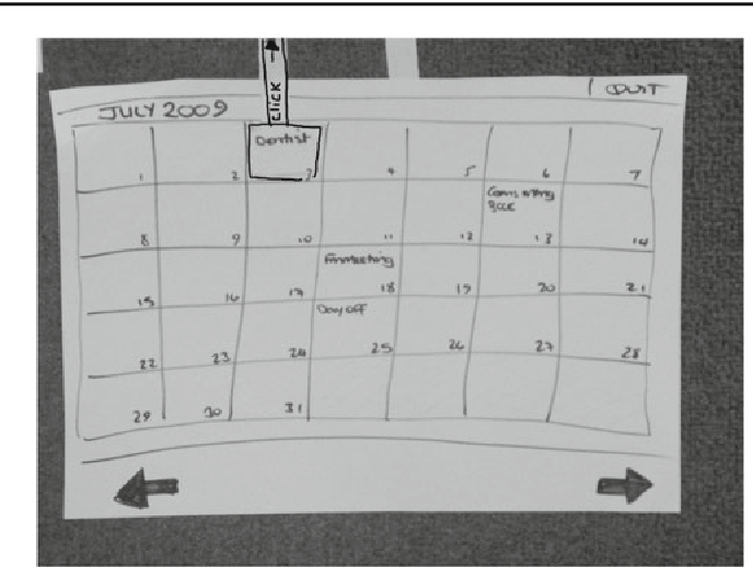 Fig. 1 Main month view for simple calendar