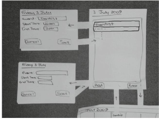 Fig. 2 Subsidiary views for simple calendar
