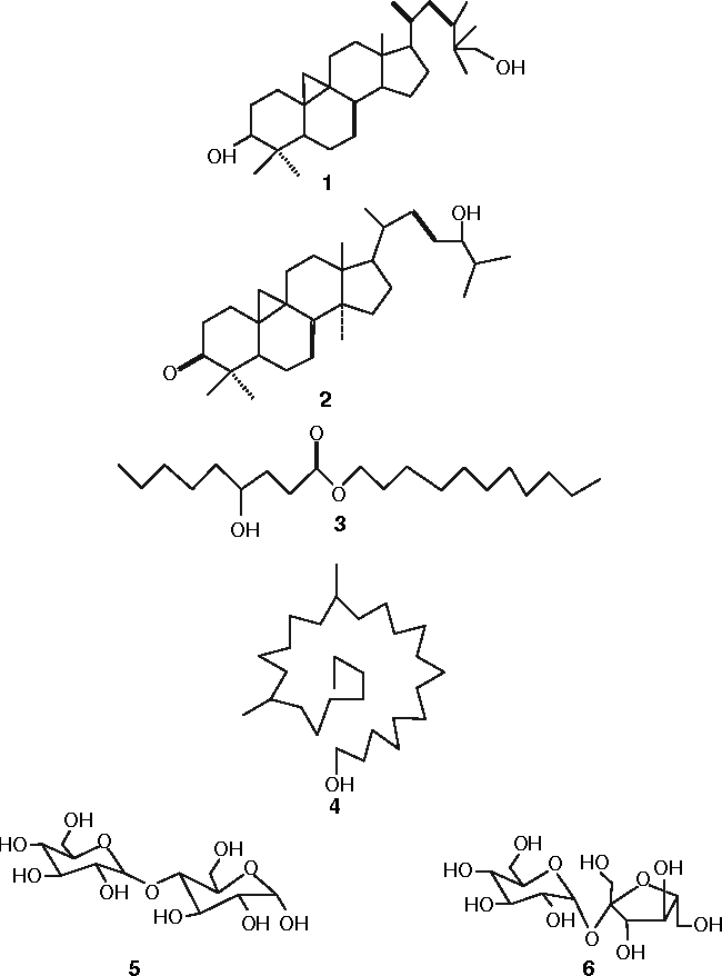 Fig. 1 Structures of compounds 1–6