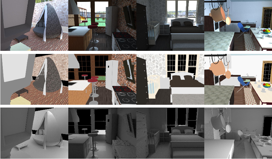 Figure 3 for CGIntrinsics: Better Intrinsic Image Decomposition through Physically-Based Rendering