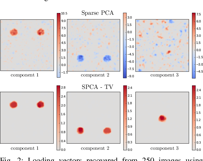 Figure 2 for Structured Sparse Principal Components Analysis with the TV-Elastic Net penalty