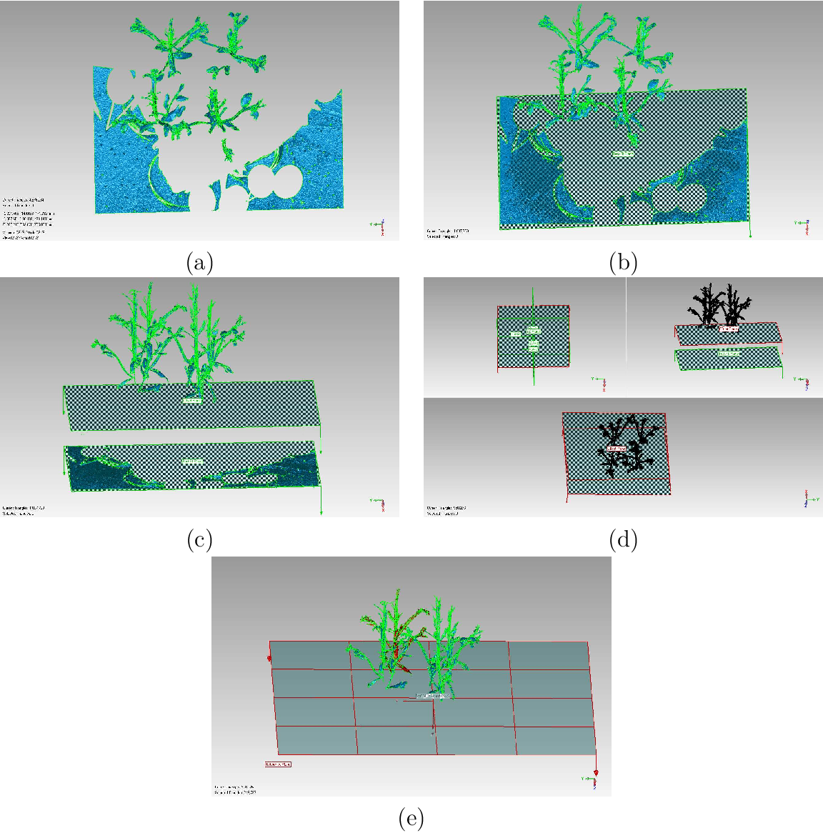 Automation of the Registration of Range Plant Images Using Geomagic