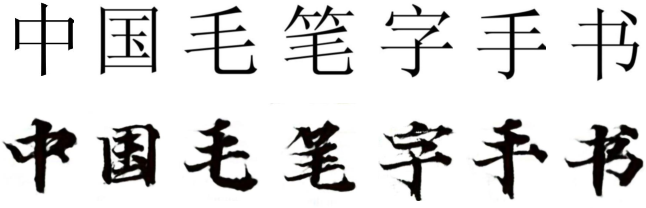 Figure 1 for ZiGAN: Fine-grained Chinese Calligraphy Font Generation via a Few-shot Style Transfer Approach