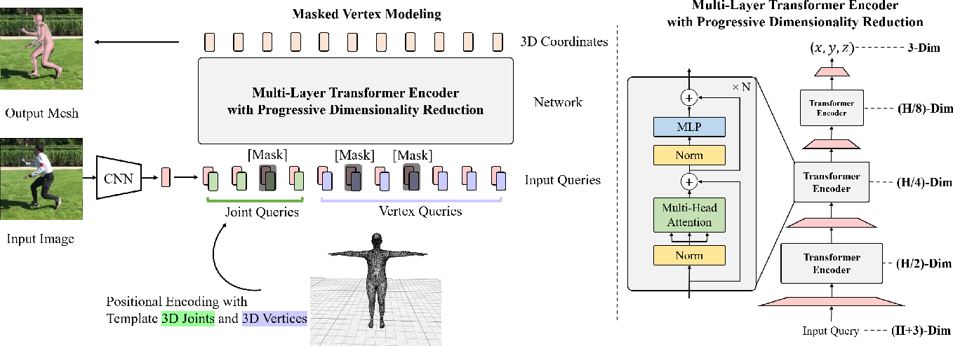 Figure 3 for End-to-End Human Pose and Mesh Reconstruction with Transformers