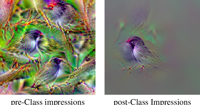 Figure 3 for Saliency-driven Class Impressions for Feature Visualization of Deep Neural Networks