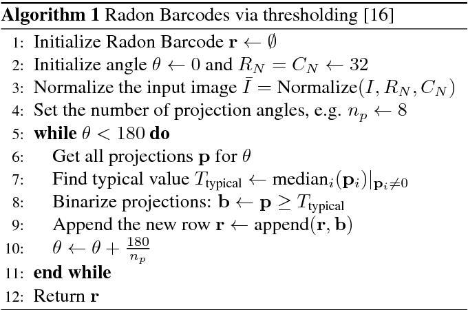 Figure 1 for Barcodes for Medical Image Retrieval Using Autoencoded Radon Transform