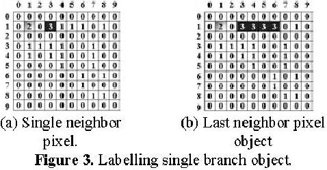 Figure 3. Labelling single branch object.