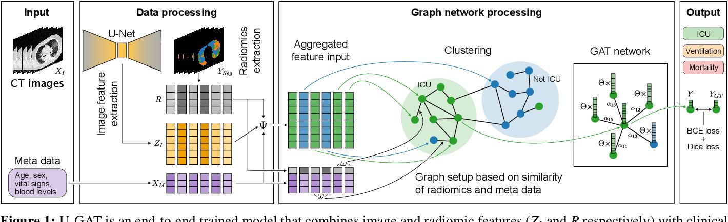 Figure 1 for U-GAT: Multimodal Graph Attention Network for COVID-19 Outcome Prediction