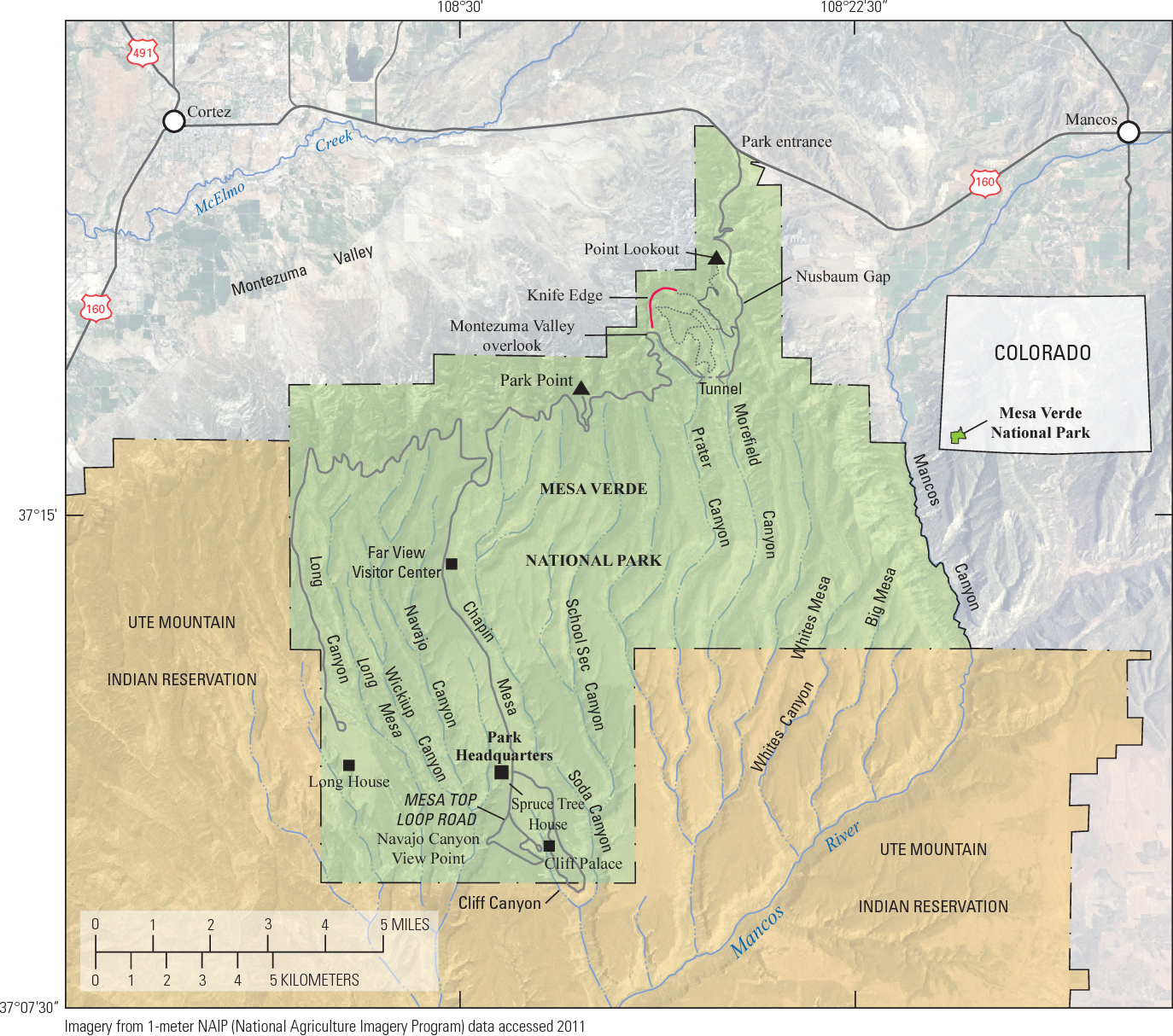 PDF] Surficial Geologic Map of Mesa Verde National Park, Montezuma ...