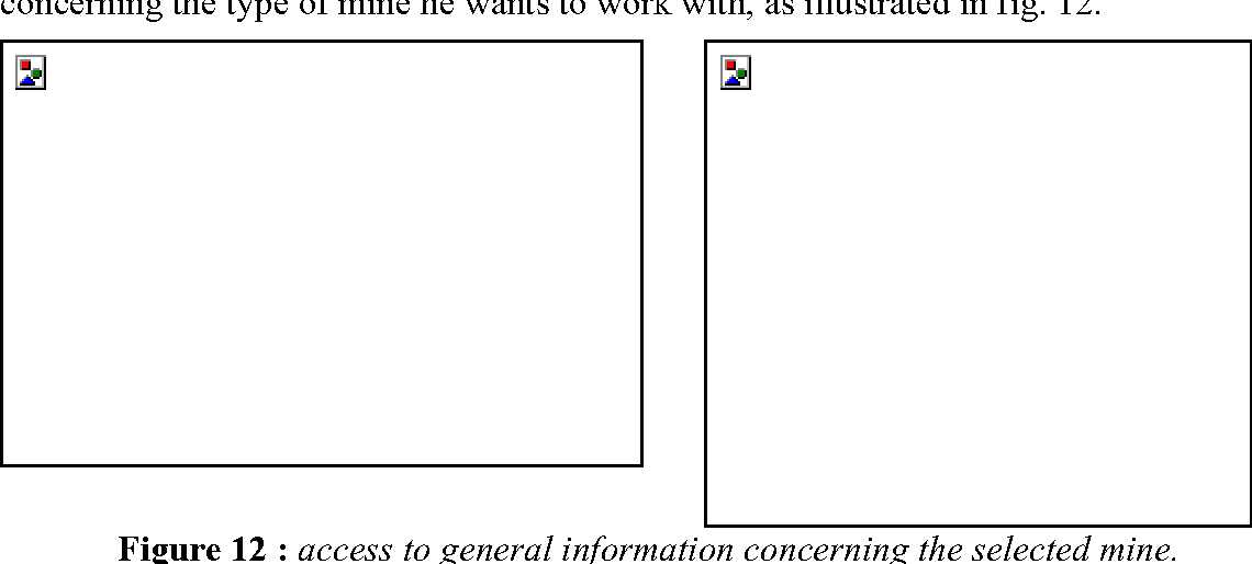 Figure 12 : access to general information concerning the selected mine.
