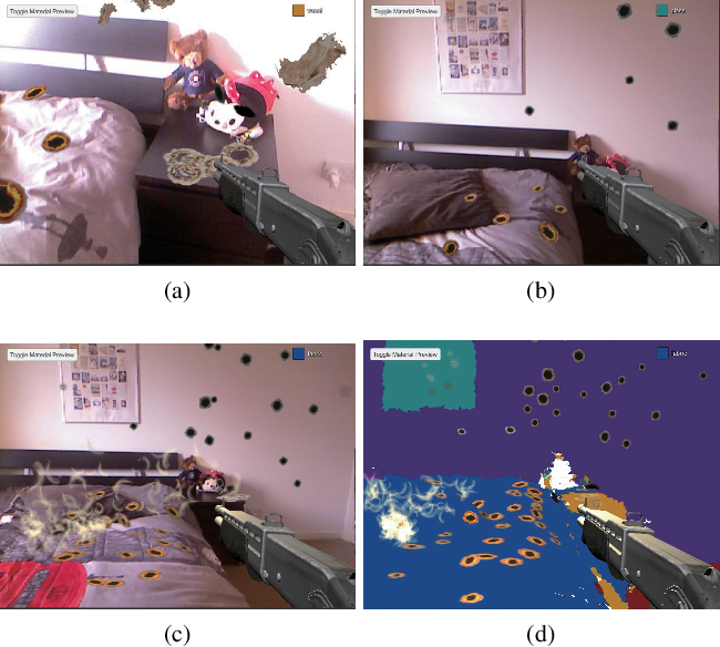 Figure 2 for Semantic Augmented Reality Environment with Material-Aware Physical Interactions