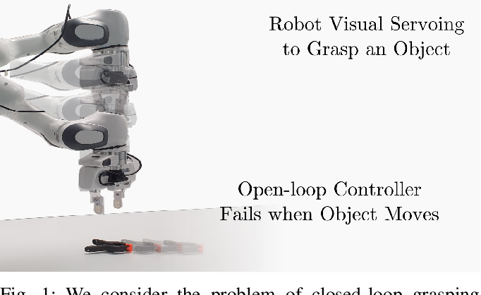 Figure 1 for Control of the Final-Phase of Closed-Loop Visual Grasping using Image-Based Visual Servoing