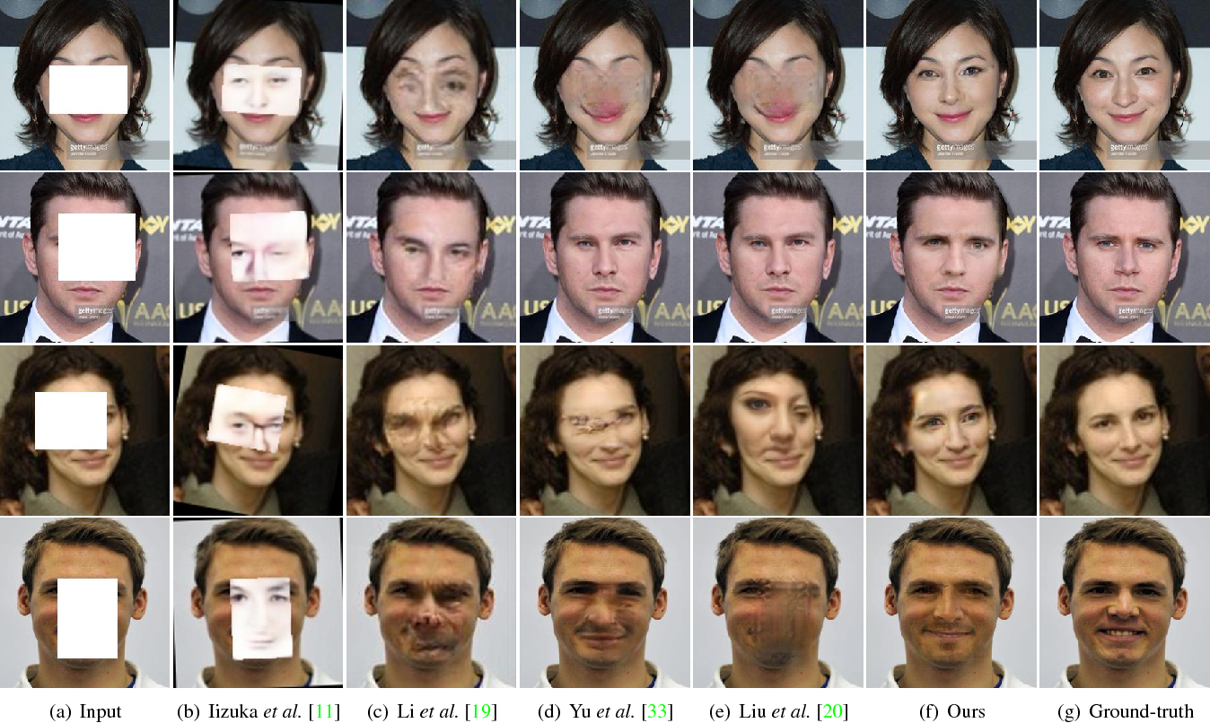 Figure 4 for Learning Symmetry Consistent Deep CNNs for Face Completion