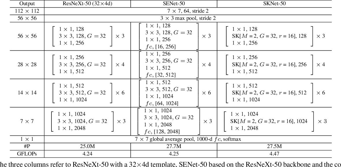 Figure 2 for Selective Kernel Networks
