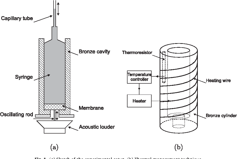 Fig. 1. (a) Sketch of the experimental setup. (b) Thermal management technique.