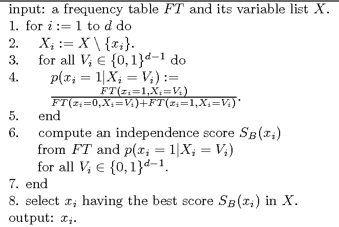 Figure 1 for Discovering causal structures in binary exclusive-or skew acyclic models