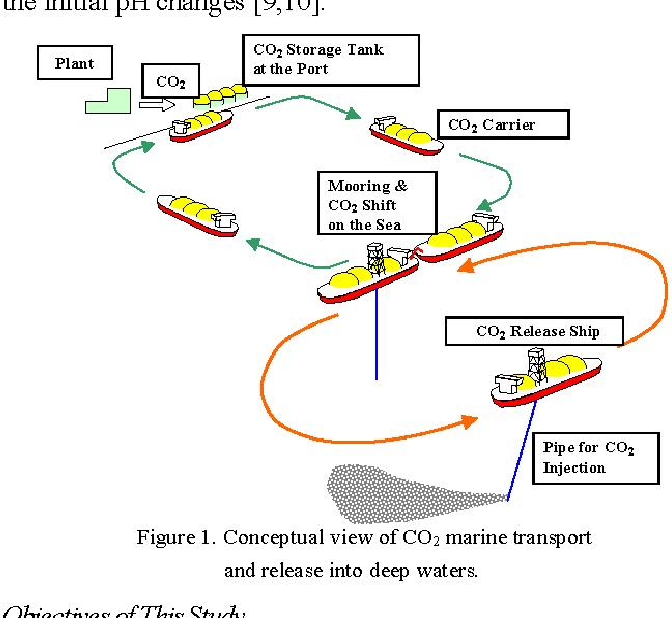 System Plan of CO2 Marine Transport and Release in Deep Waters for