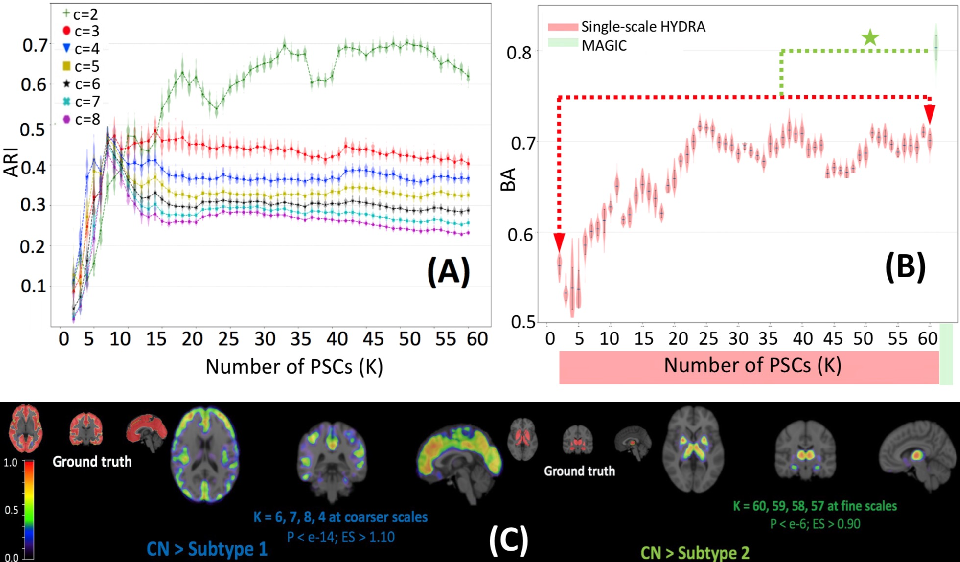 Figure 3 for MAGIC: Multi-scale Heterogeneity Analysis and Clustering for Brain Diseases
