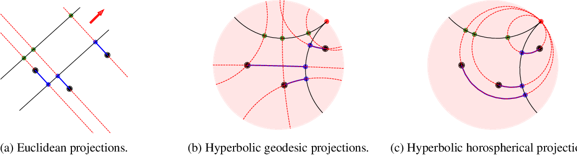 Figure 1 for HoroPCA: Hyperbolic Dimensionality Reduction via Horospherical Projections