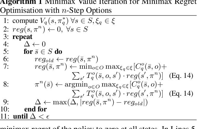 Figure 1 for Minimax Regret Optimisation for Robust Planning in Uncertain Markov Decision Processes