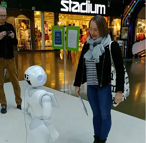 Figure 1 for MuMMER: Socially Intelligent Human-Robot Interaction in Public Spaces