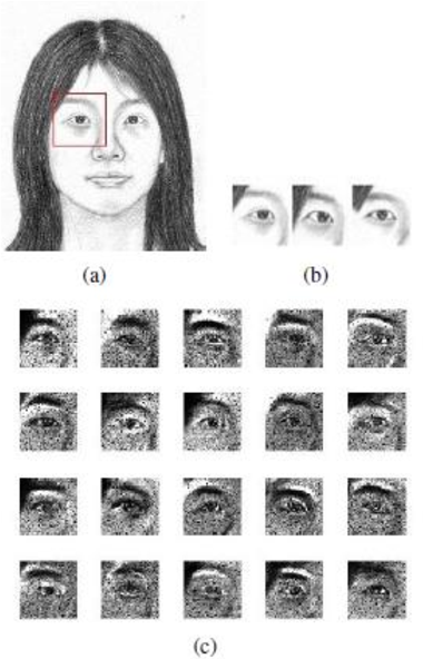 Figure 1 for Face Photo Sketch Synthesis via Larger Patch and Multiresolution Spline