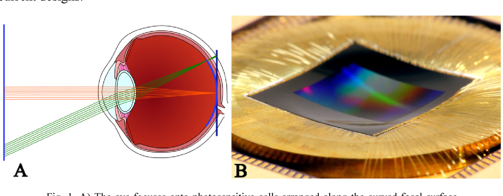 Figure 1 for Highly curved image sensors: a practical approach for improved optical performance