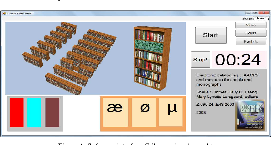 Figure 1. Software interface (Library visual search)